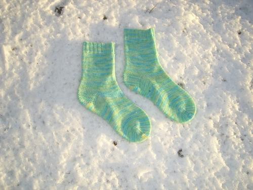 Blue Green Faerie Feet Socks