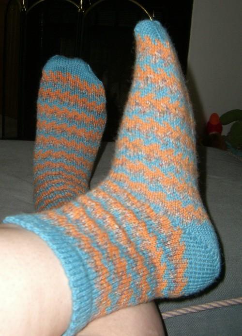 First Fair Isle Socks